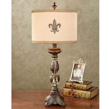 fleur de lis table lamp photo - 10