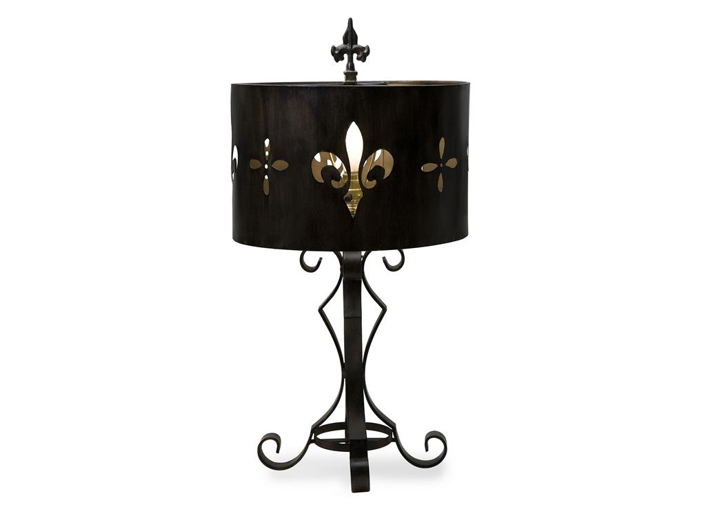 fleur de lis table lamp photo - 6