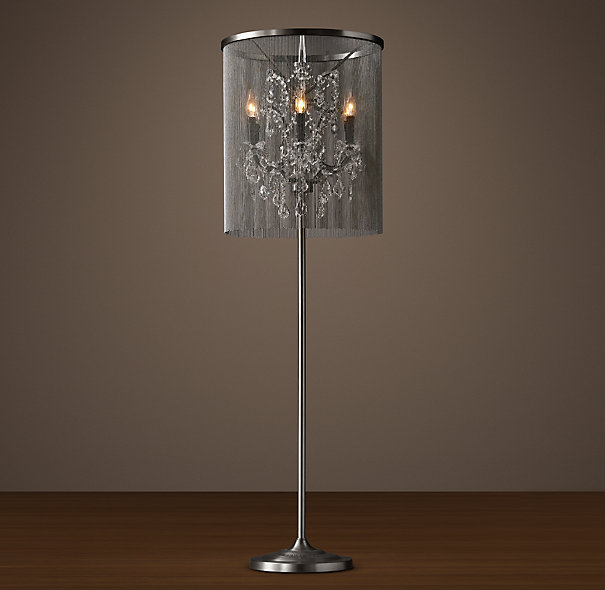 floor lamp crystal photo - 2