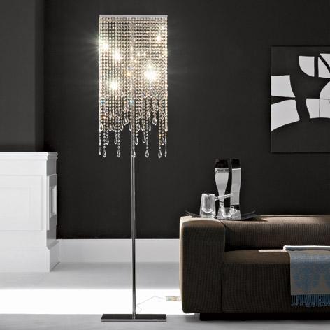 floor lamp crystal photo - 6