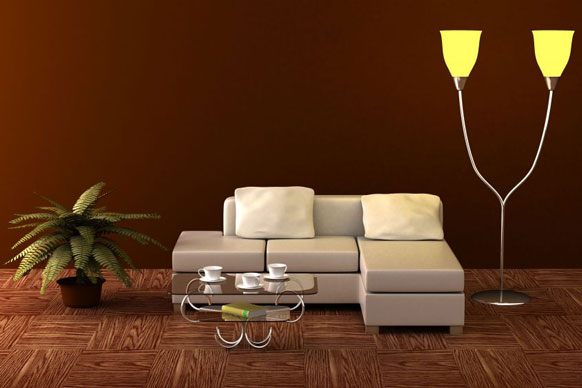 floor lamp living room photo - 4