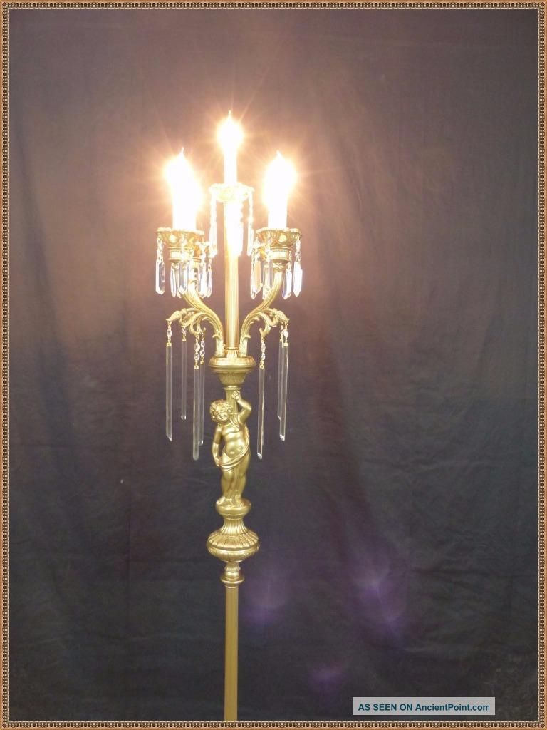 floor lamp with crystals photo - 10
