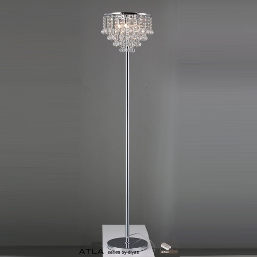 floor lamp with crystals photo - 8