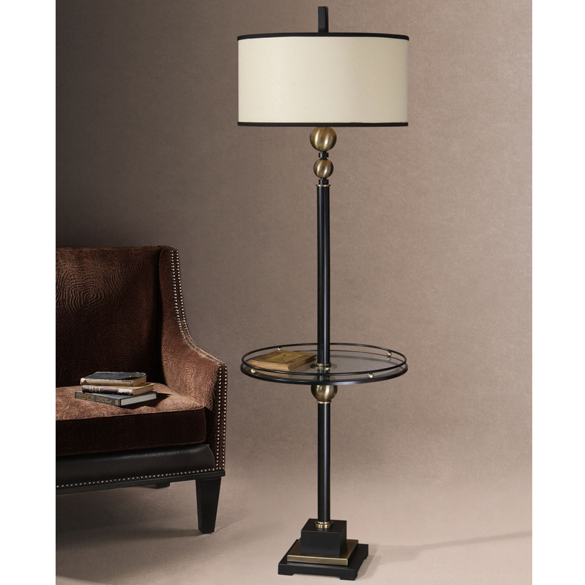 floor lamp with shelf photo - 5
