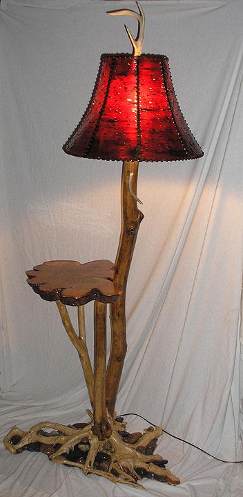 floor lamp with shelf photo - 9