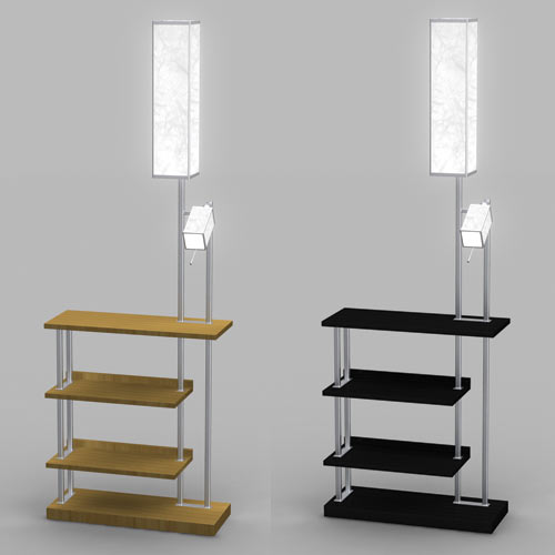 Floor Lamp With Shelves floor lamp with shelves photo - 2