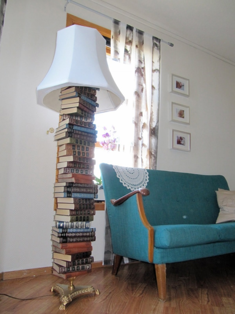 floor lamp with shelves photo - 6