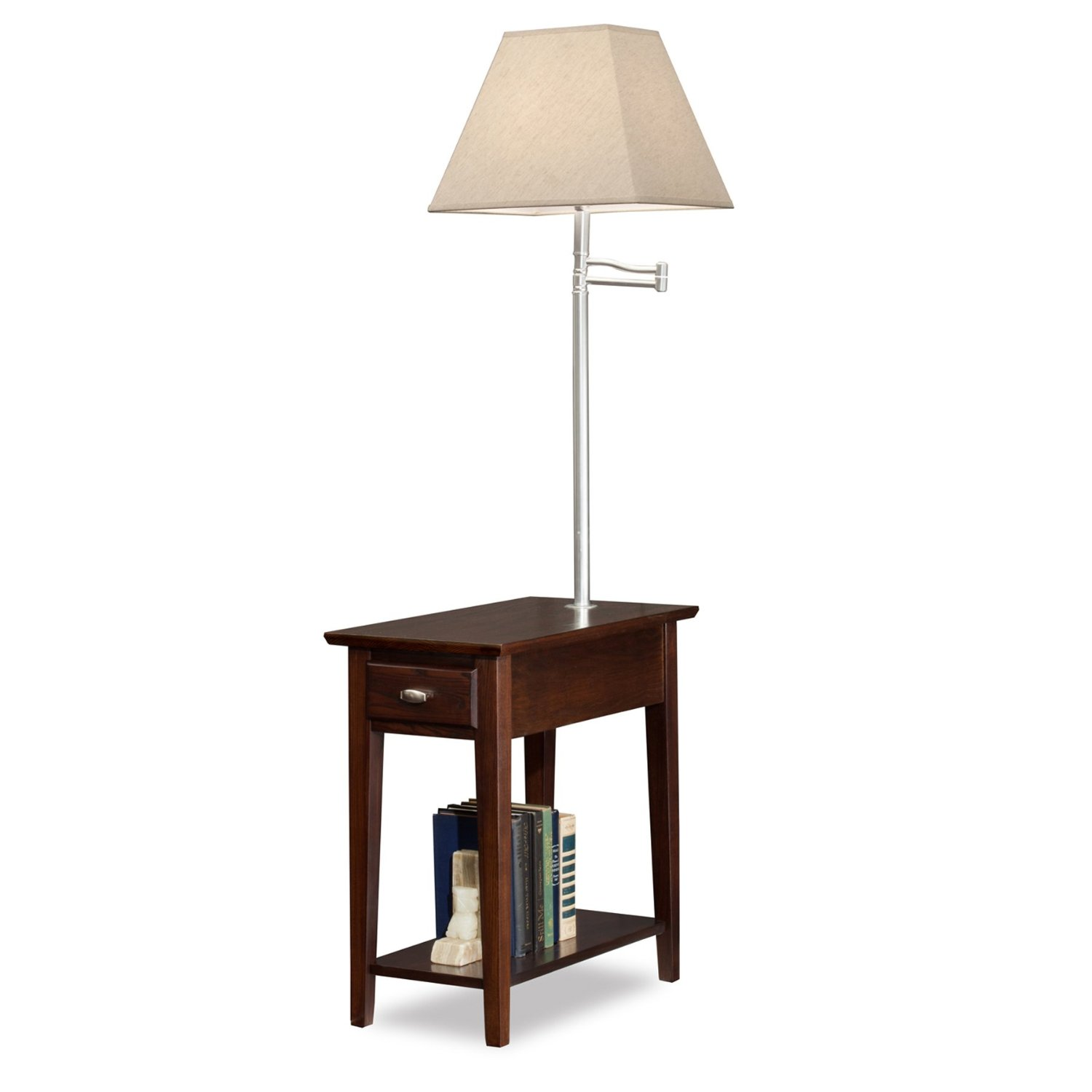 floor lamp with table attached photo - 2