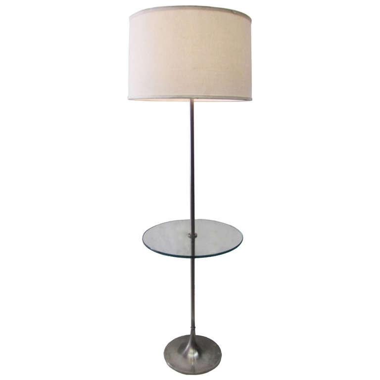 floor lamp with table attached photo - 3