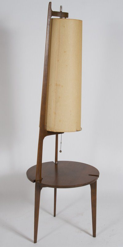 floor lamp with table attached photo - 6