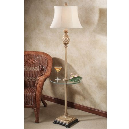 floor lamp with table attached photo - 9