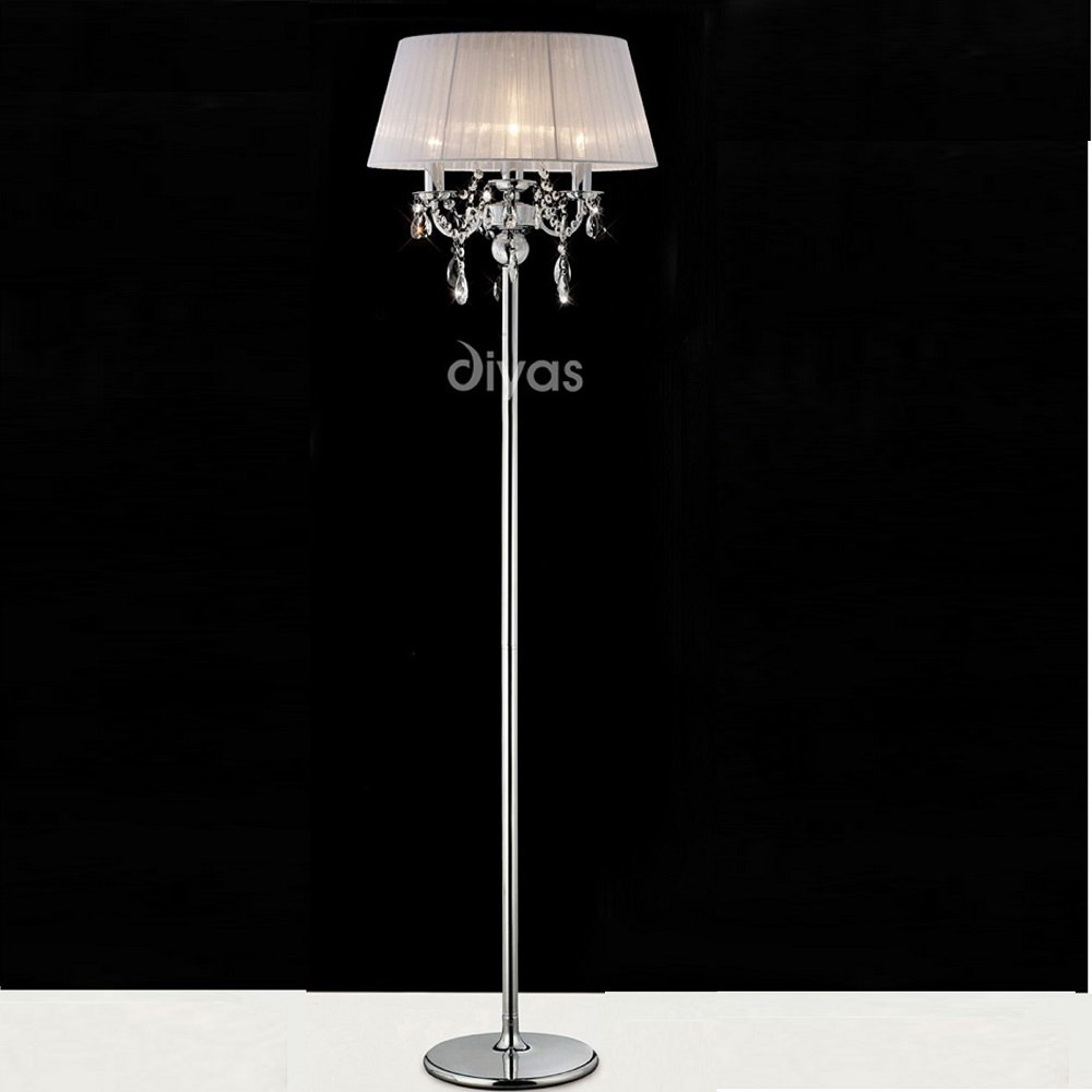 floor lamps crystal photo - 6