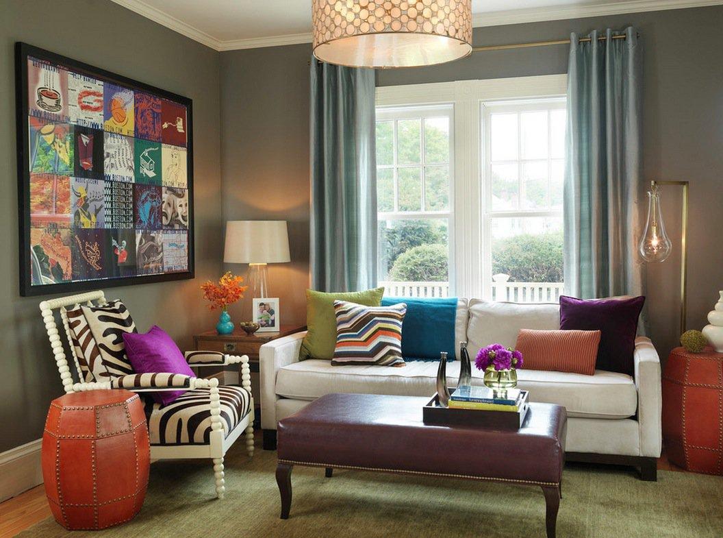 floor lamps in living room photo - 8
