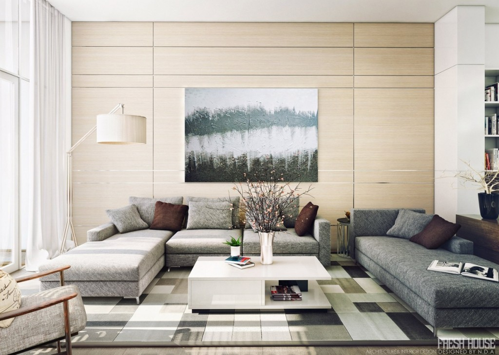 floor lamps in living room photo - 9