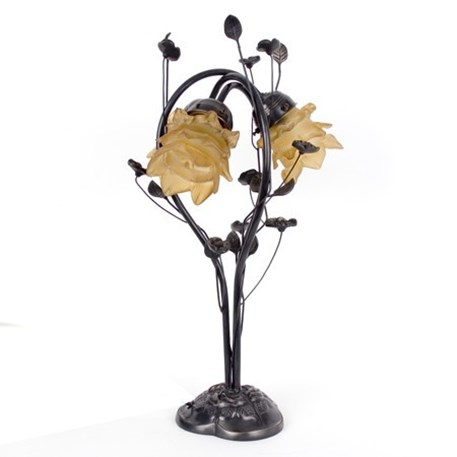 flower table lamp photo - 5