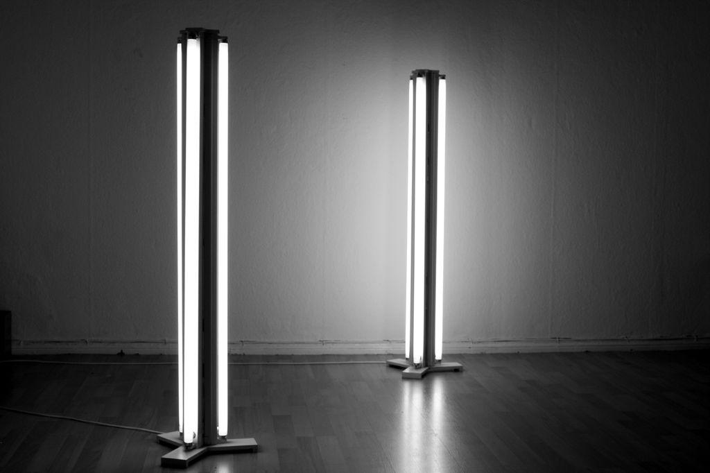 fluorescent floor lamp photo - 3