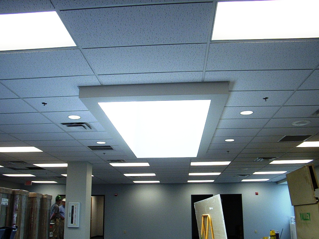 fluorescent light ceiling panels photo - 1
