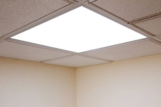 fluorescent light ceiling panels photo - 8