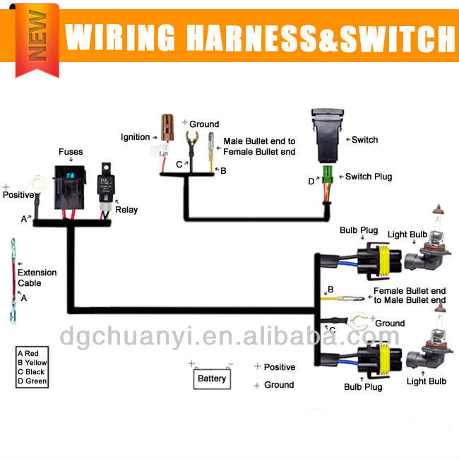 Wiring Diagram Honda Grom further Dual Hid Relay Harness H11 moreover Wiring Diagram Hid Spotlights as well Cat 3126 Wiring Diagram Connector Oem moreover Hid Edge Wiring Diagram. on kensun wiring diagram