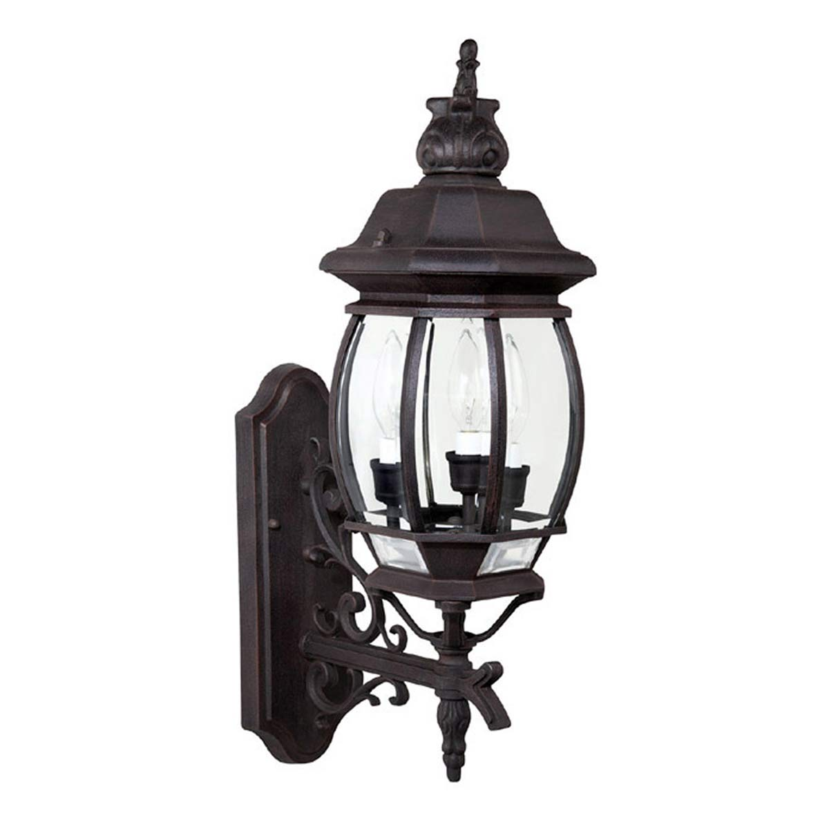 french country outdoor lighting photo - 2