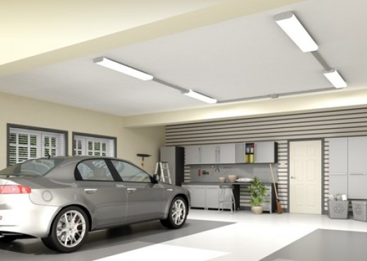 garage led ceiling lights photo - 2