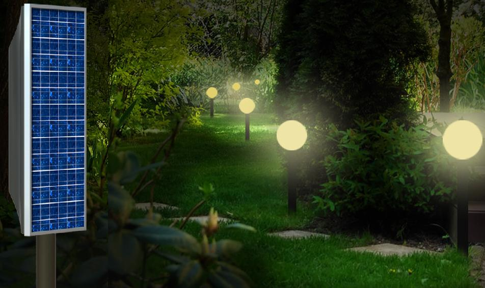 garden outdoor lights photo - 6