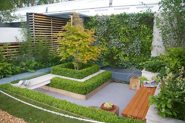 garden wall lights patio photo - 6