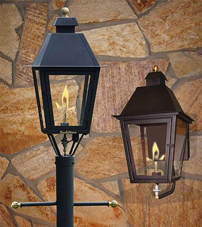 gas lamps outdoor lighting photo - 5