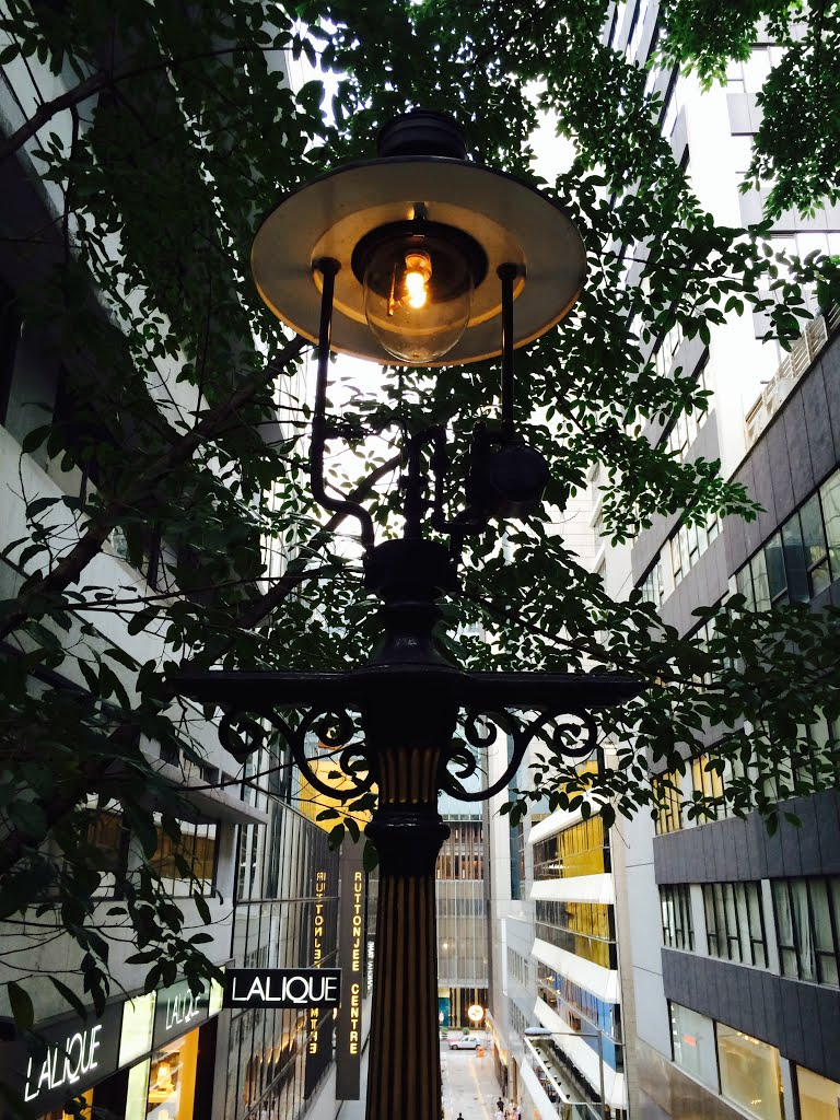 gas street lamps photo - 2