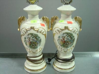 george and martha washington lamps photo - 3