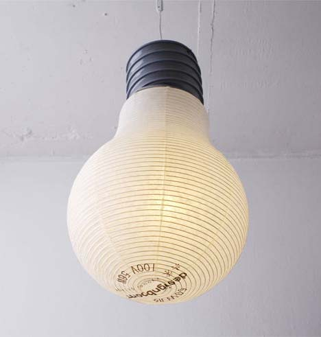 giant light bulb ceiling light photo - 1
