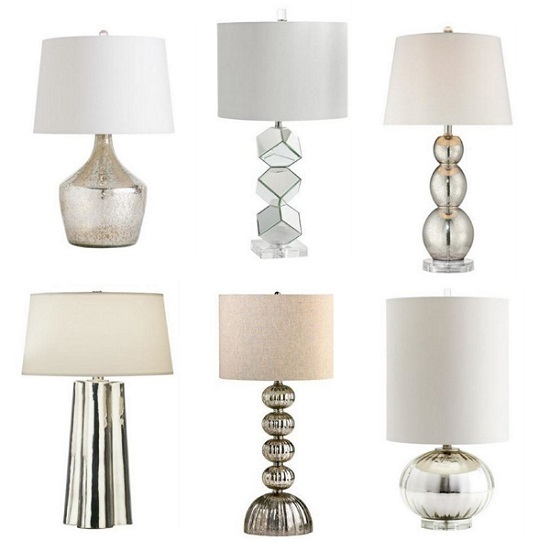 glass bedside lamps photo - 1