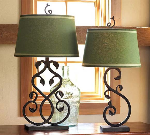 glass bedside lamps photo - 10