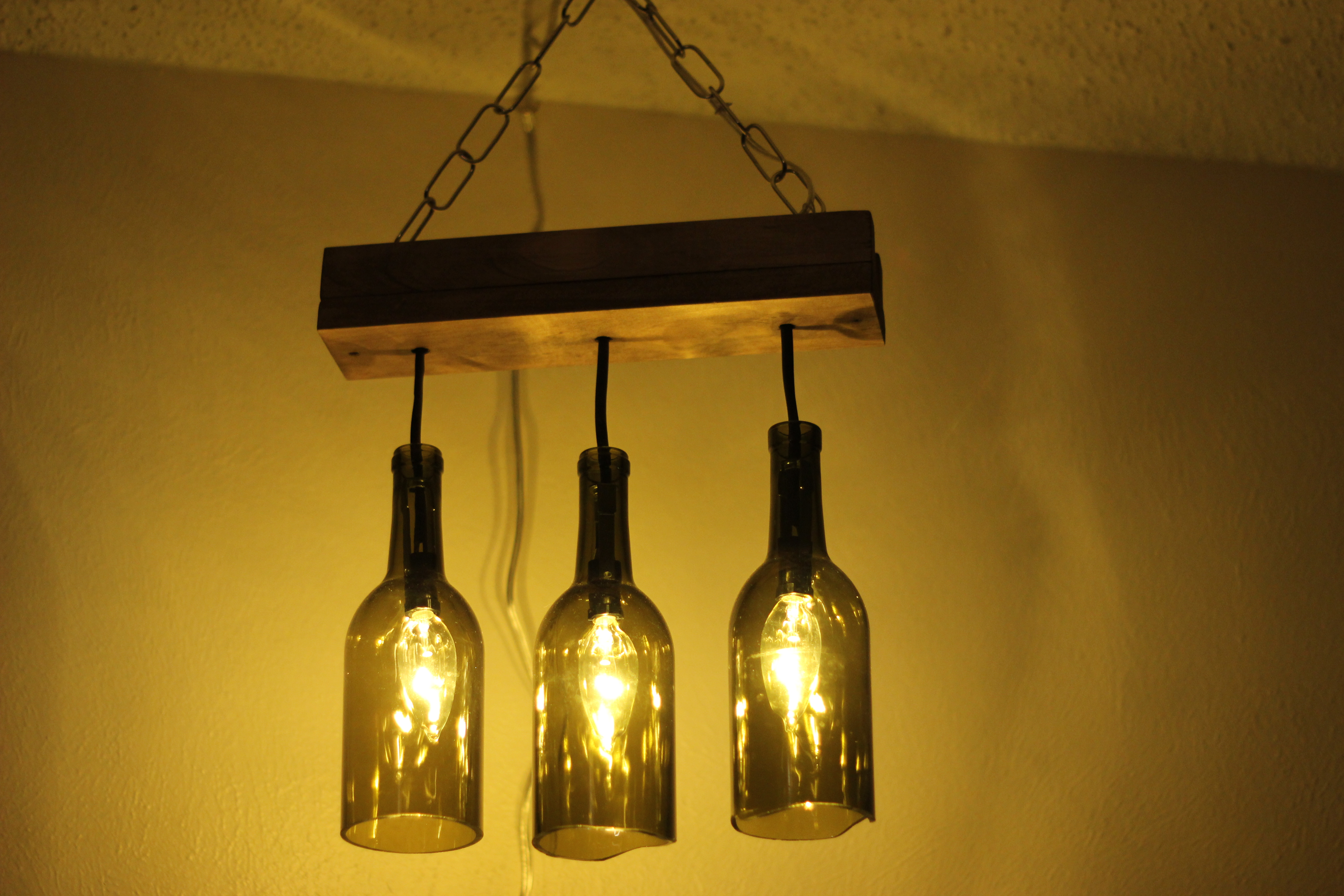 glass bottle lamps photo - 10