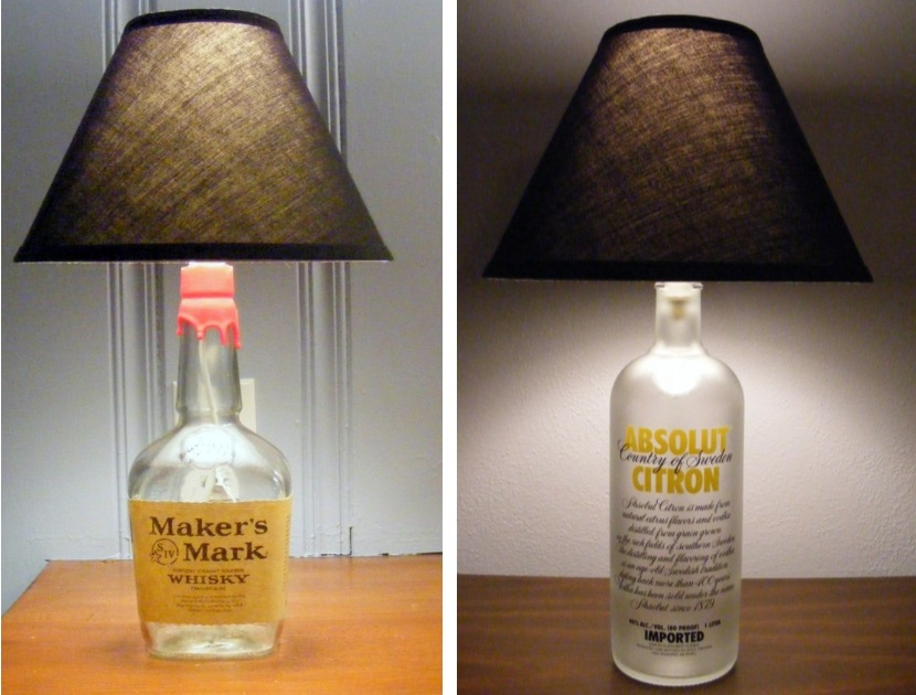 glass bottle lamps photo - 3