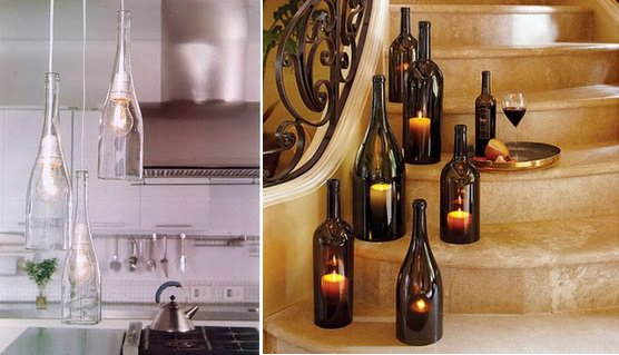 glass bottle lamps photo - 4