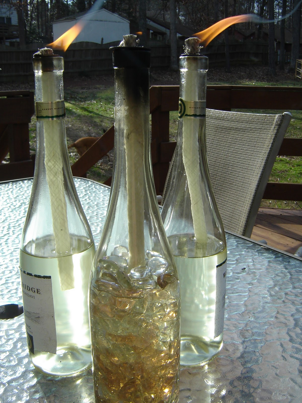 glass bottle lamps photo - 5