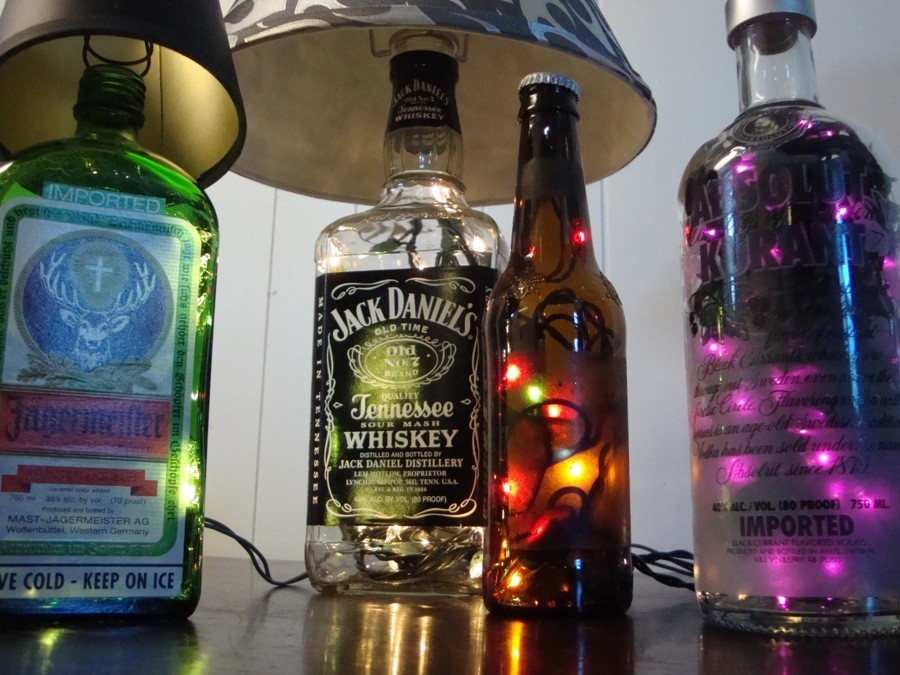 glass bottle lamps photo - 8