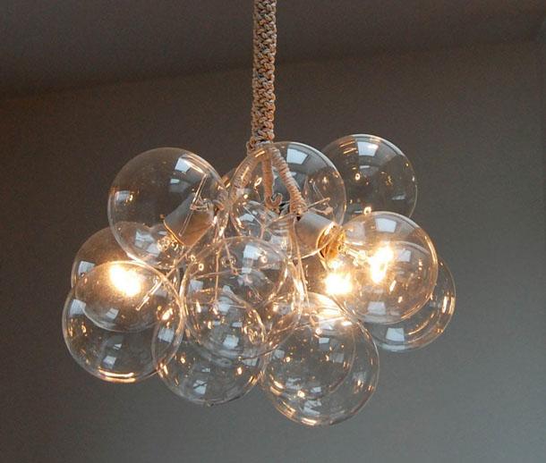 glass bubble lamp photo - 4