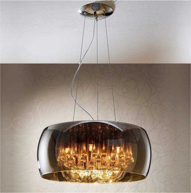 glass droplet ceiling light photo - 10