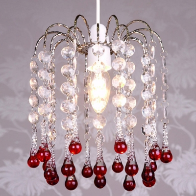 glass droplet ceiling light photo - 3