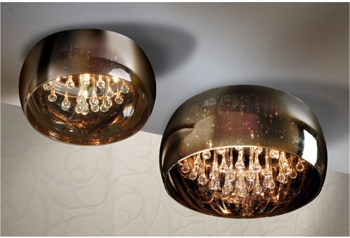 glass droplet ceiling light photo - 7