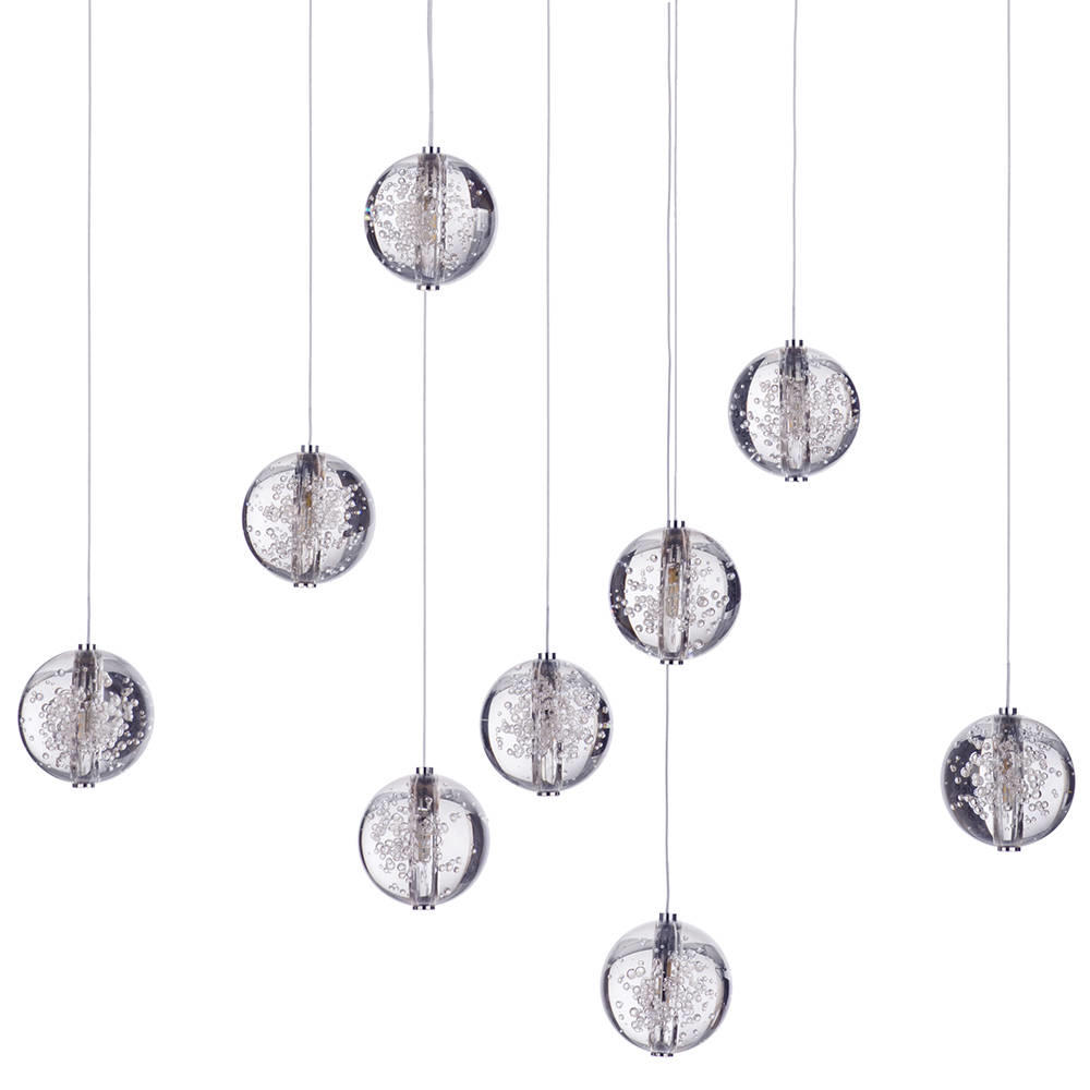 glass droplet ceiling light photo - 8
