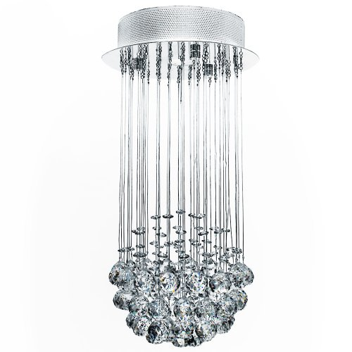 glass droplet ceiling light photo - 9