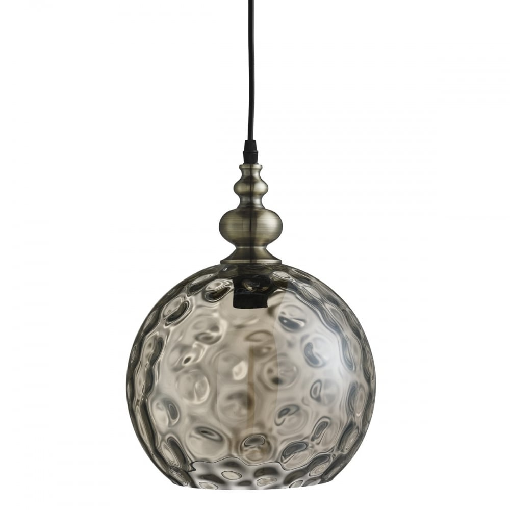 glass globe ceiling light photo - 6