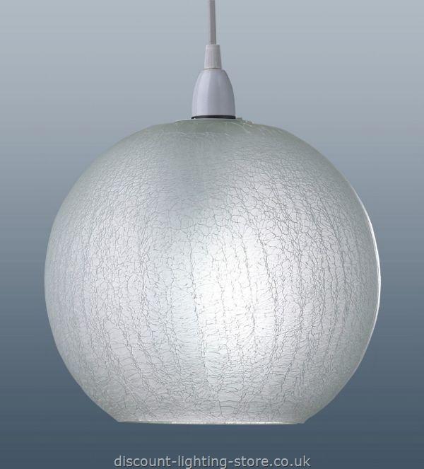 glass globe ceiling light photo - 7