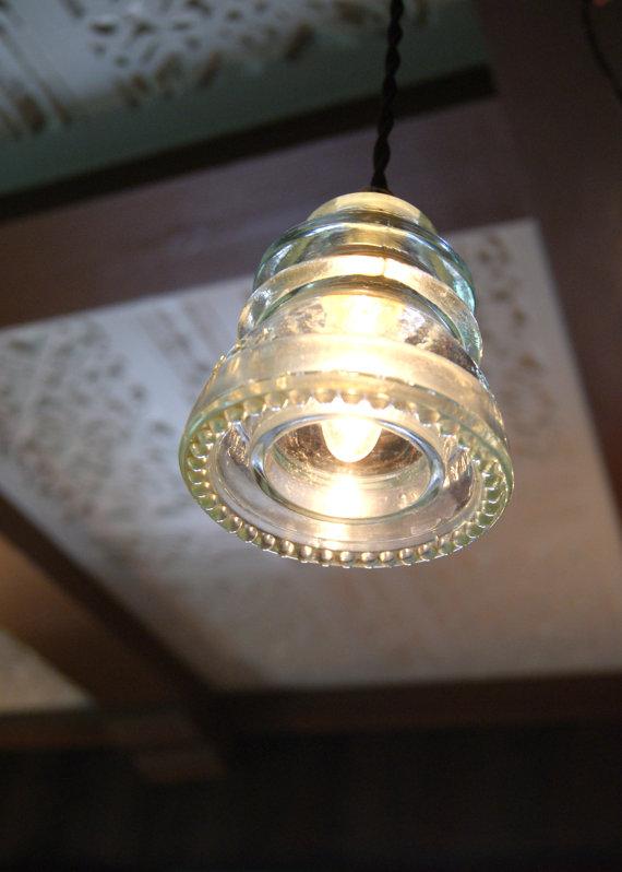 glass insulator lamp photo - 10
