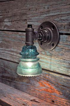 glass insulator lamp photo - 3