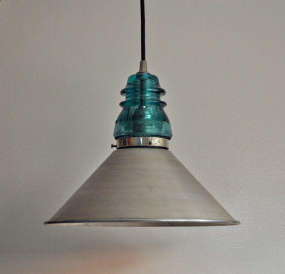 glass insulator lamp photo - 4
