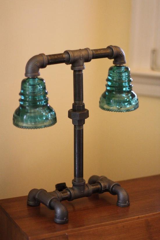 glass insulator lamp photo - 6